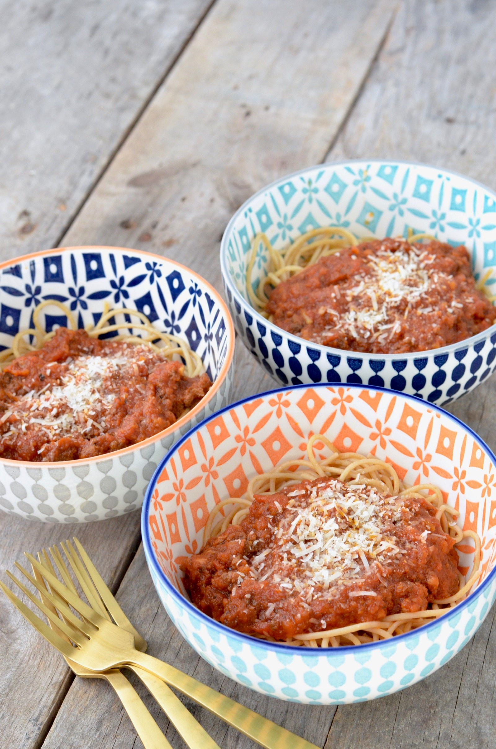 Slow Cooker Bolognese on 100 Days of Real Food