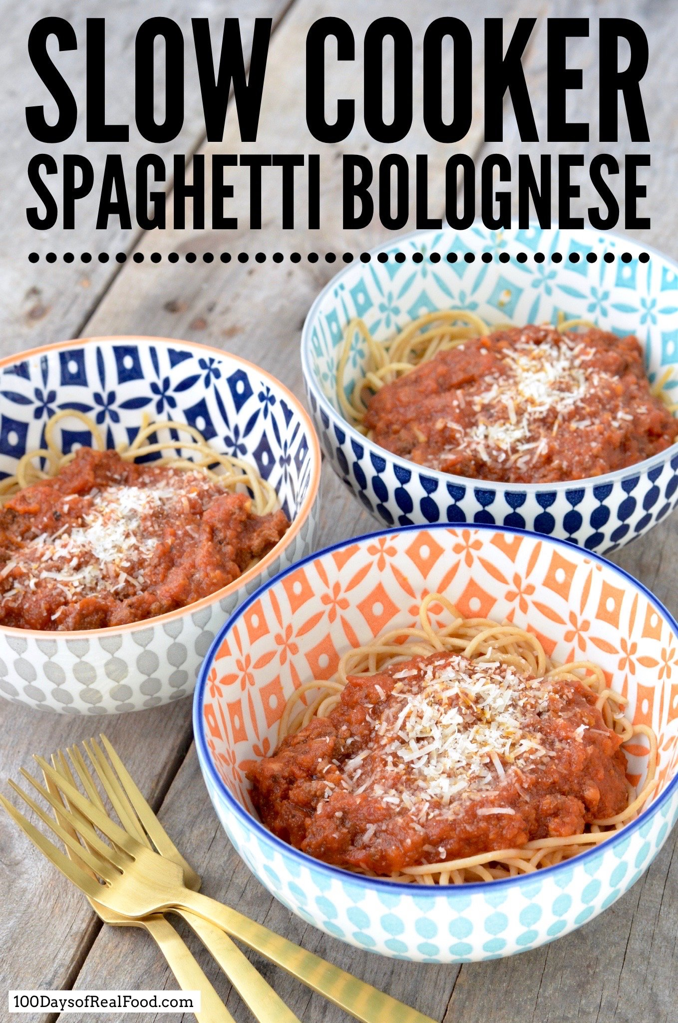 spaghetti bolognese from 100 Days of Real Food