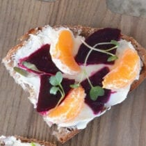 Beets and Orange Cheese Toast on 100 Days of Real Food