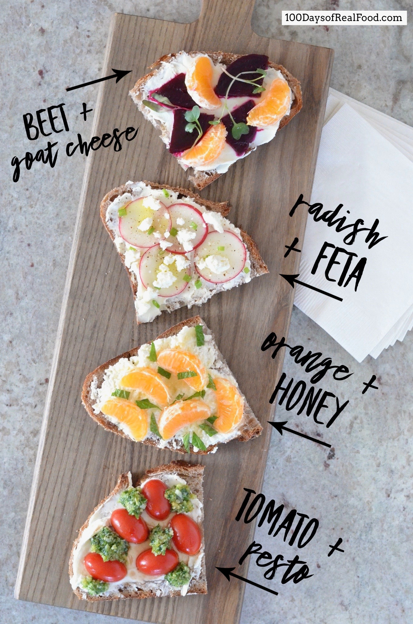 Fancy White Cheese Toasts on 100 Days of Real Food