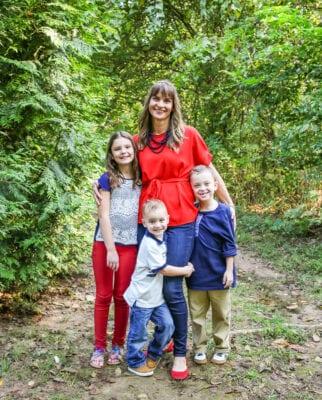Liz Blackburn with kids