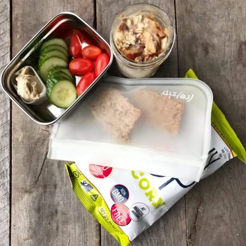 School Lunches Apple Pie Overnight Oats on 100 Days of Real Food