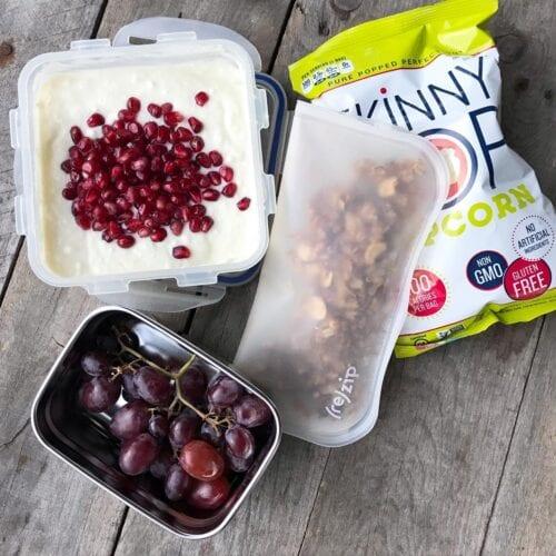 School Lunch granola and yogurt on 100 Days of Real Food