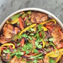 Chicken and Veggie Teriyaki Skillet on 100 Days of Real Food