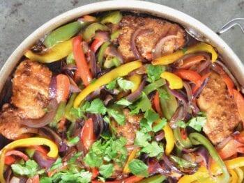 Chicken and Veggie Teriyaki Skillet on 100 Days of Real Food