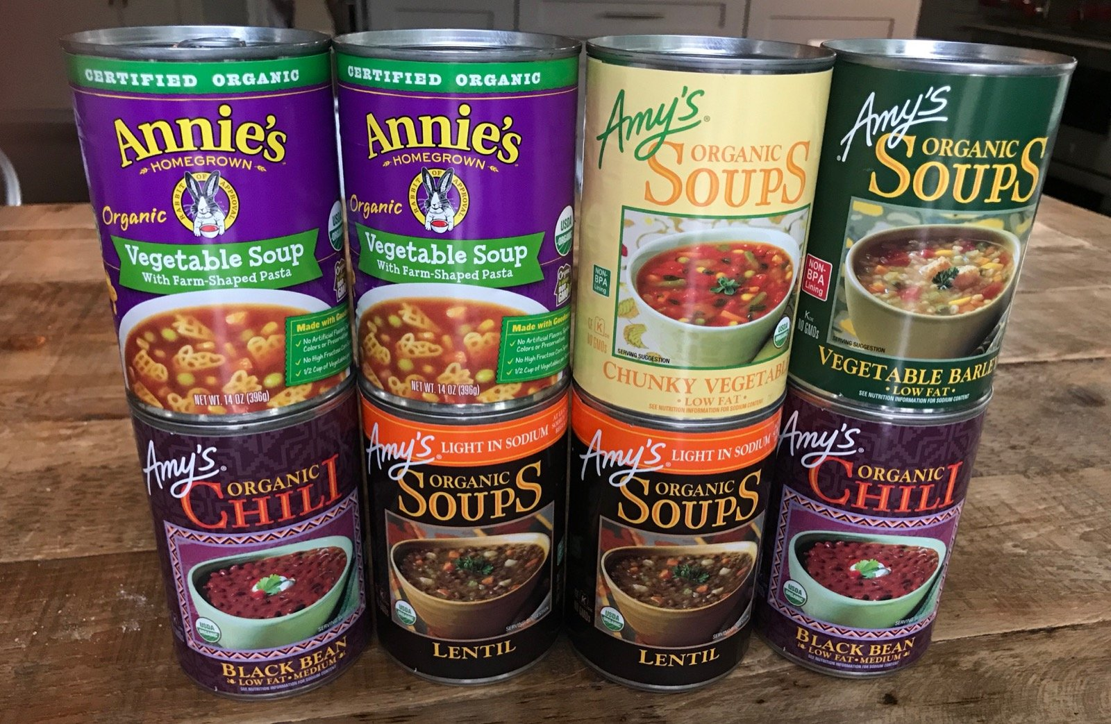 Organic canned soups