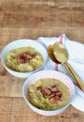 Sausage and Potato Soup with Broccoli on 100 Days of Real Food