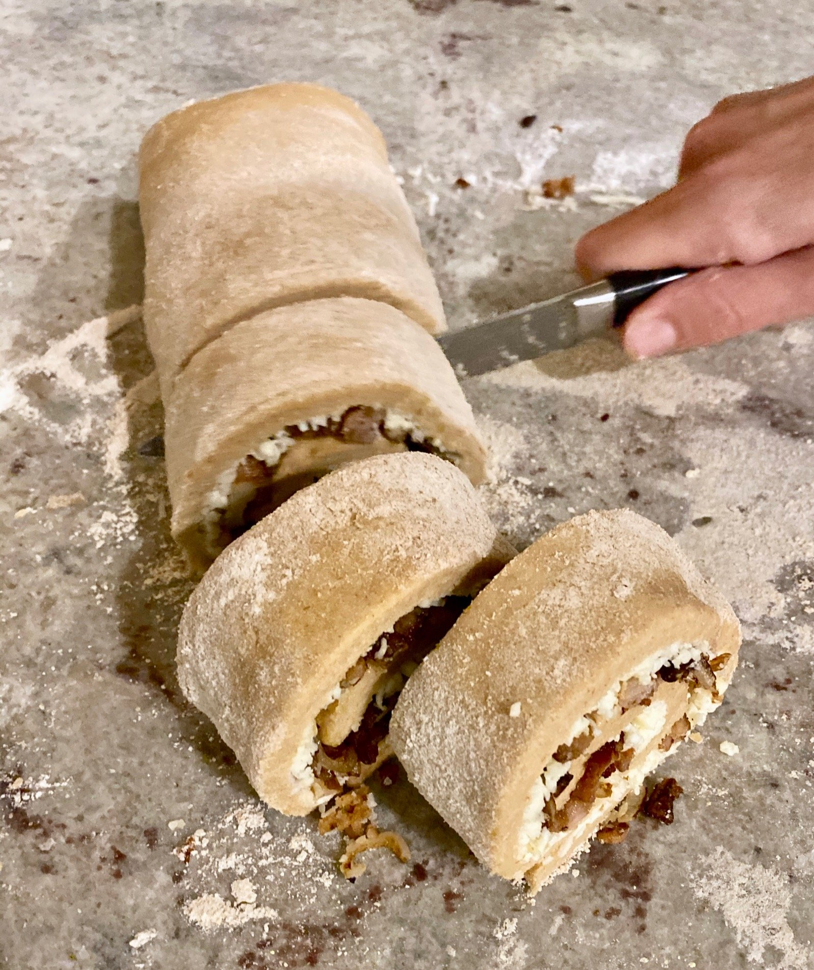 Homemade Whole-Wheat Pizza Rolls on 100 Days of Real Food