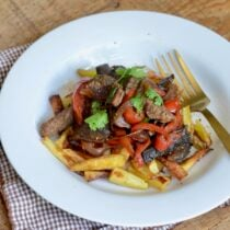 Peruvian Stir Fry (Lomo Saltado) on 100 Days of Real Food