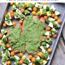 Pesto Salmon Sheet Pan Dinner