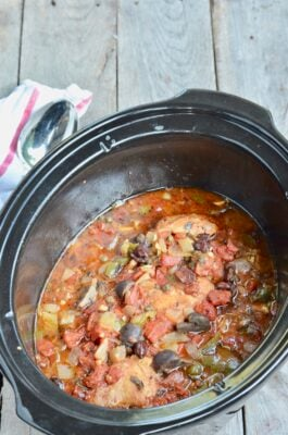 Slow Cooker Chicken Cacciatore on 100 Days of Real Food