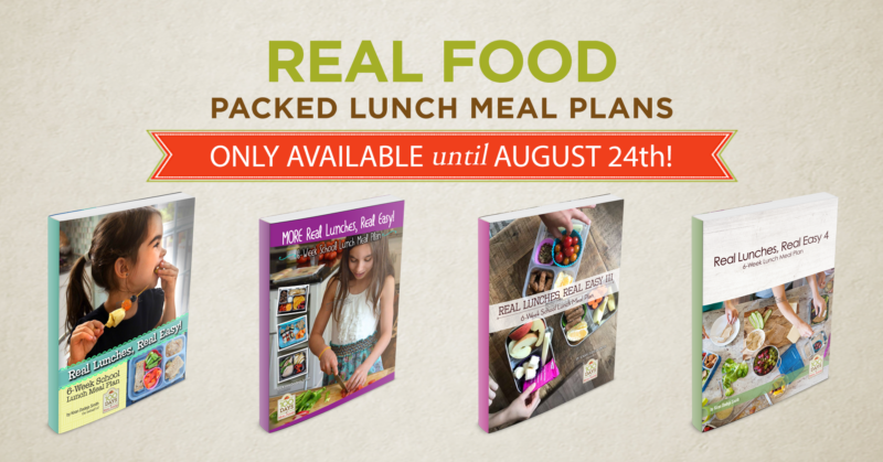packed lunch meal plans on 100 Days of Real Food