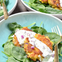 Smoked Trout and Buttermilk Fritters on 100 Days of Real Food