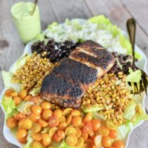 Blackened Fish Salad on 100 Days of Real Food