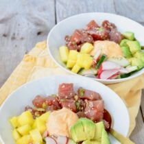 DIY Tuna Poke Bowls on 100 Days of Real Food