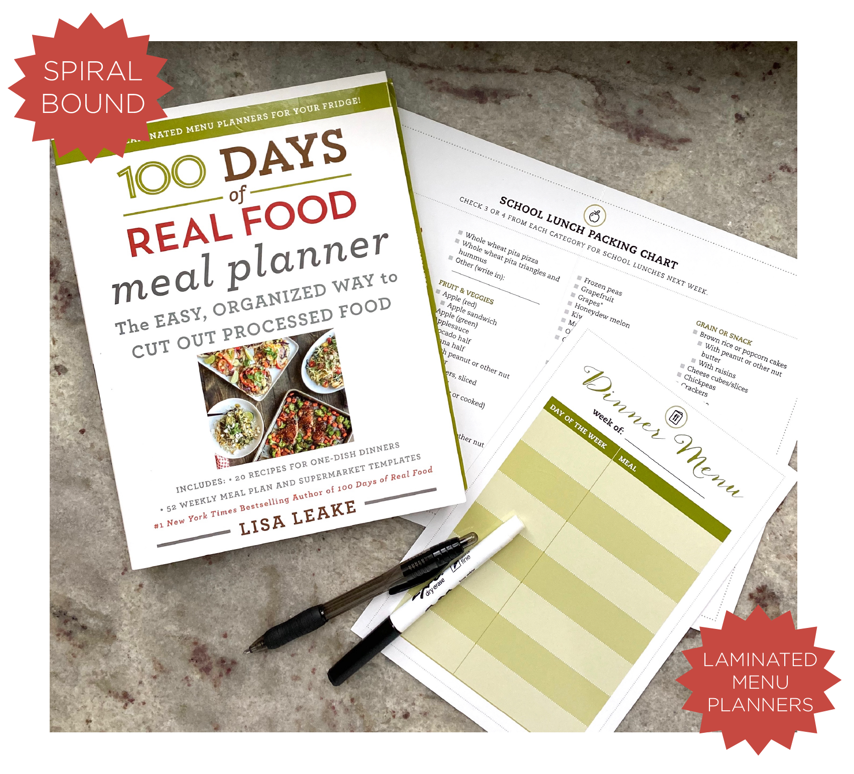 Meal Planner Template on 100 Days of Real Food