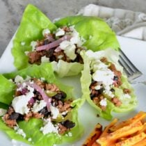Chorizo and Black Bean Lettuce Wraps on 100 Days of Real Food