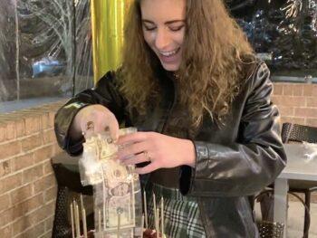 Money Birthday Cake on 100 Days of Real Food