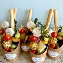 Charcuterie Cups with Mini Cheese Balls on 100 Days of Real Food