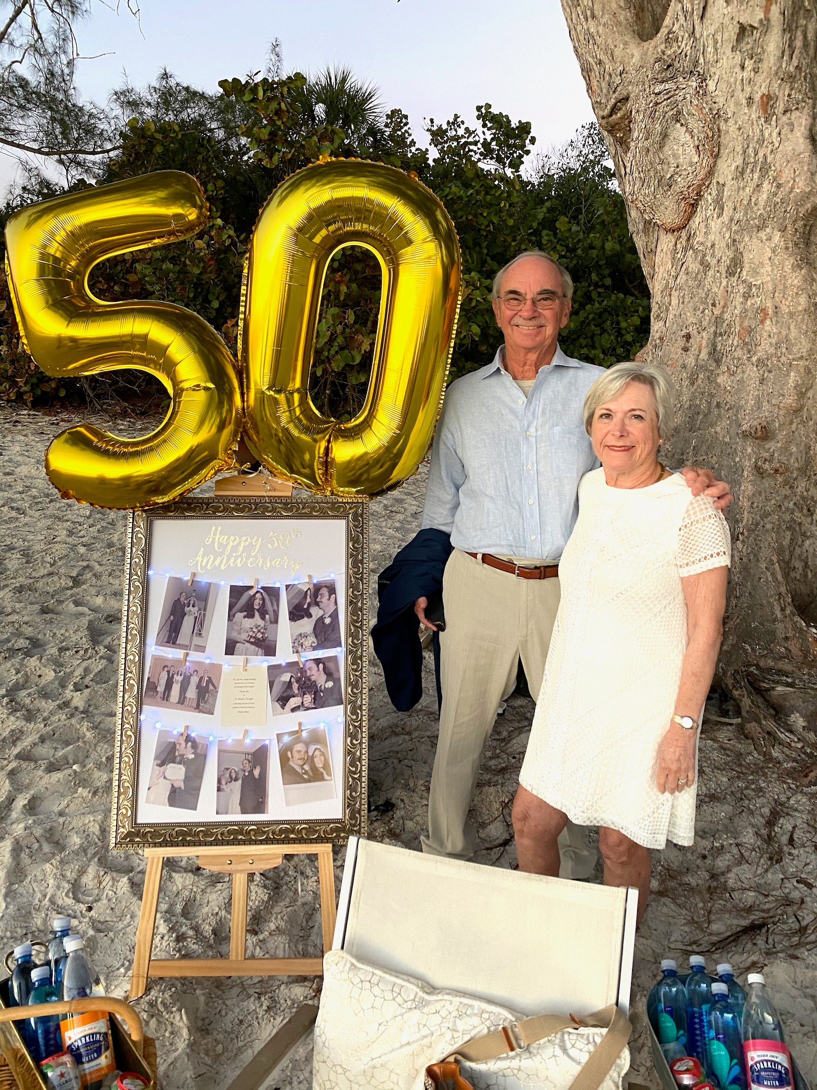 My parents 50th anniversary celebration on 100 Days of Real Food