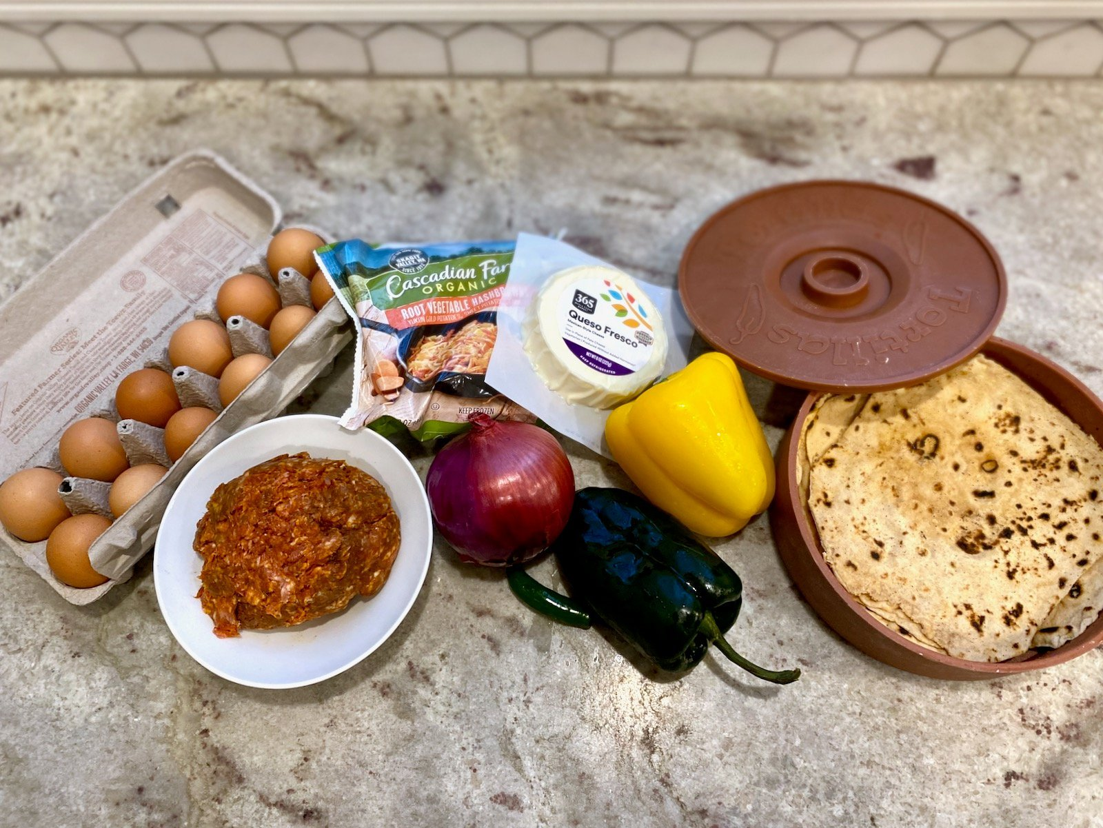 Mexican Breakfast Burritos on 100 Days of Real Food