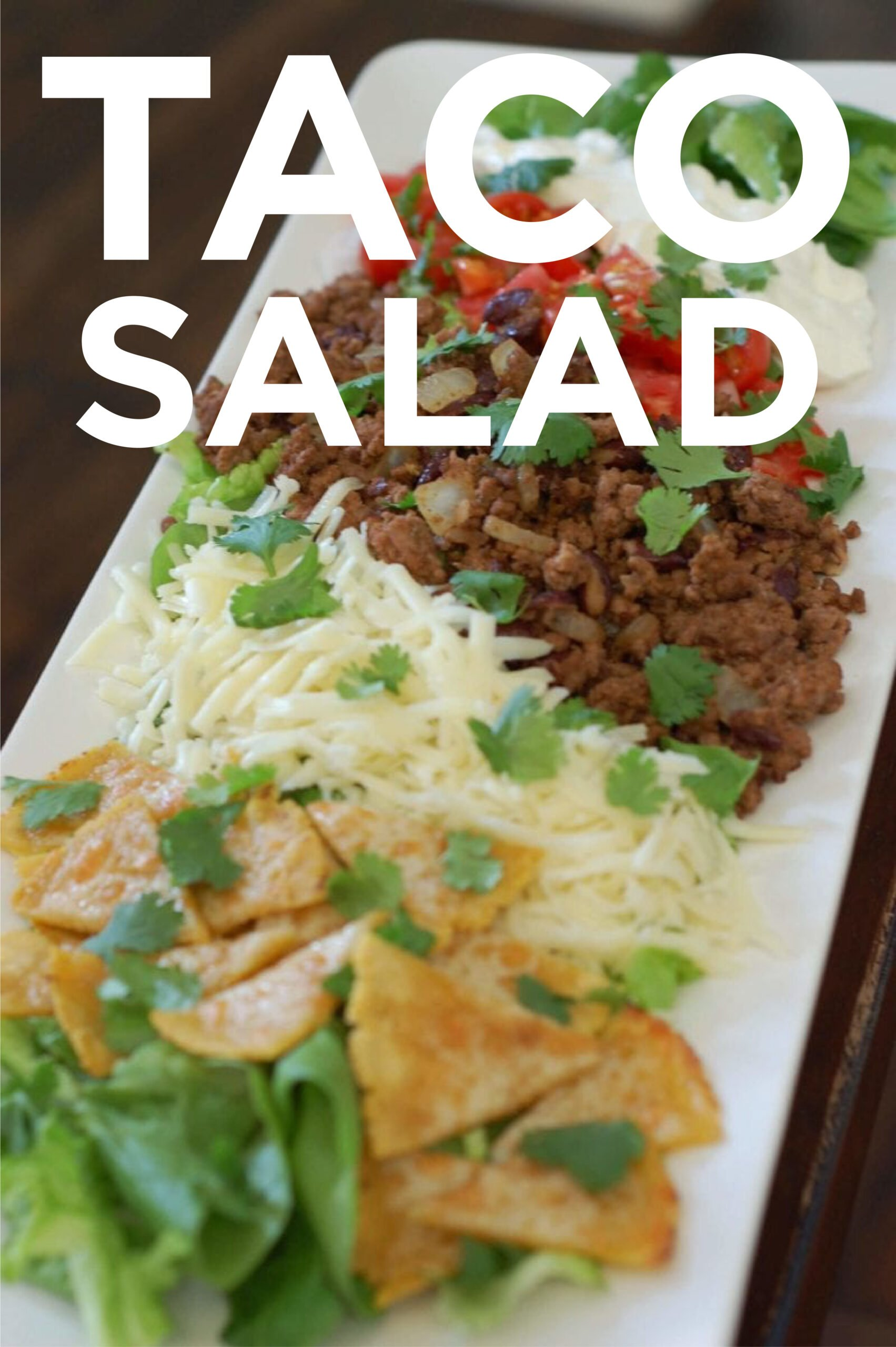 Taco Salad on a white serving plate