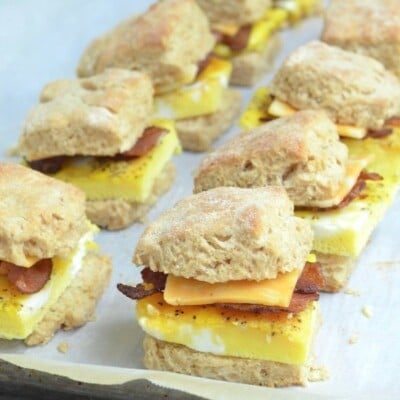 Make-Ahead Egg Biscuits on 100 Days of Real Food