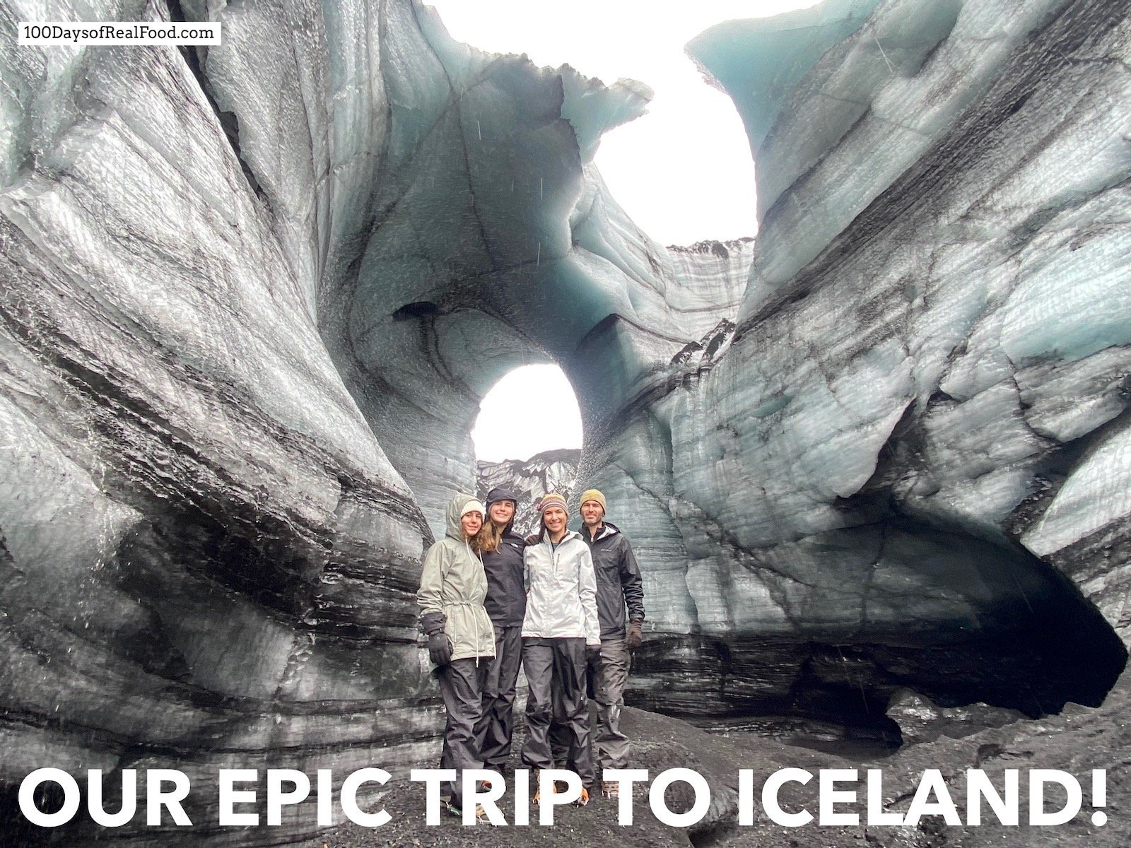 Family photo in Iceland.