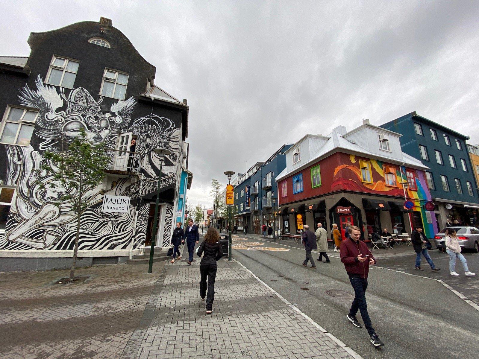 City view of Reykjavík.