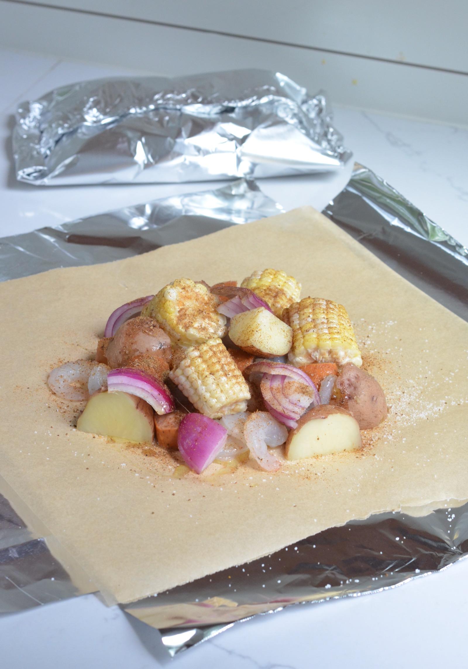 Shrimp Boil Foil Packets on 100 Days of Real Food