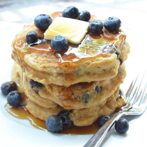 Blueberry Buttermilk Pancakes (whole-wheat)