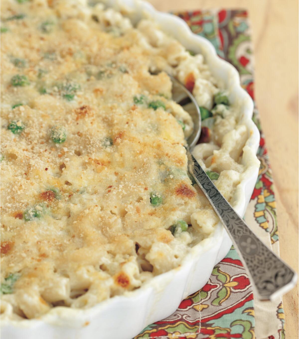 Macaroni Casserole in a baking dish.